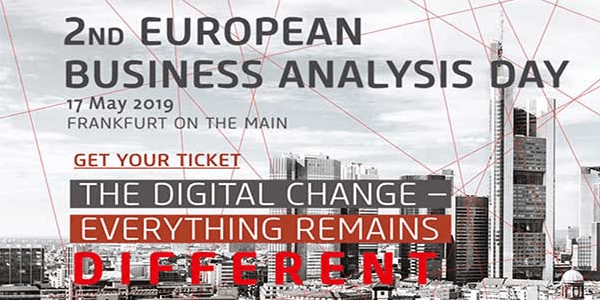 2nd European Business Analysis Day am 17. Mai 2019 in Frankfurt